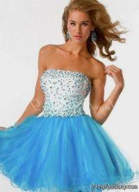 Short Baby Blue Prom Dresses - Boutique Prom Dresses