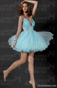 baby blue short dresses for prom 2016-2017   B2B Fashion