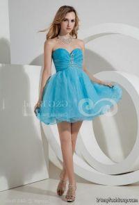 baby blue short dresses for prom 2016