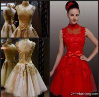black and red lace bridesmaid dresses 2016-2017 | B2B Fashion