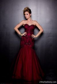black and red mermaid prom dresses 2016-2017 | B2B Fashion