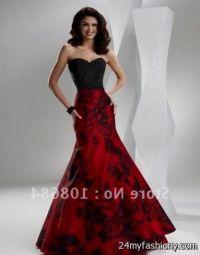 black and red wedding dresses 2016-2017   B2B Fashion
