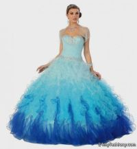 Blue And Purple And Green Quinceanera Dresses | www ...