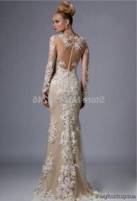 champagne lace prom dress 2016-2017 | B2B Fashion