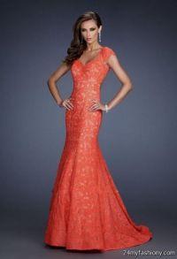 coral lace prom dress 2016-2017 | B2B Fashion
