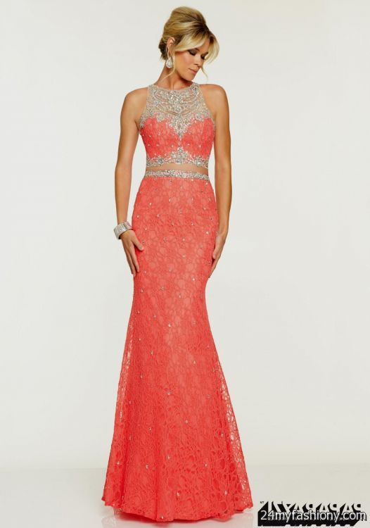 coral lace prom dress 2016-2017 » B2B Fashion