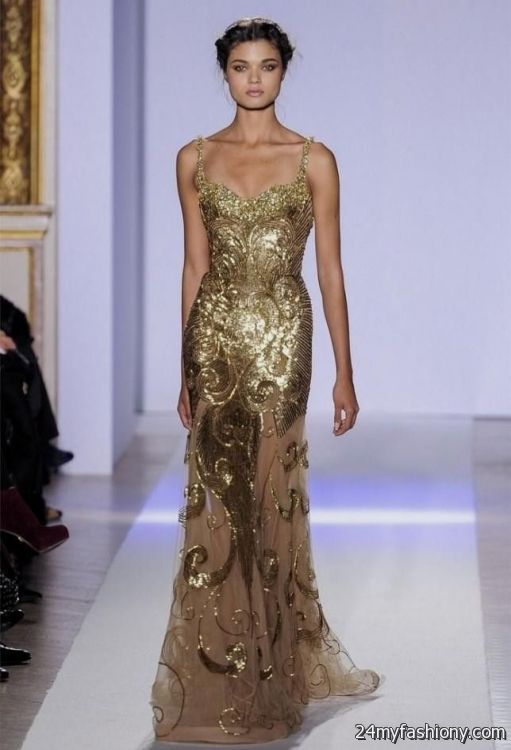 gold beaded gown 2016-2017 » B2B Fashion