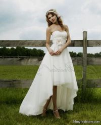 high low wedding dresses with cowboy boots 2016-2017 | B2B ...