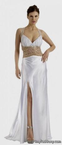 long white and gold prom dresses 2016-2017 | B2B Fashion