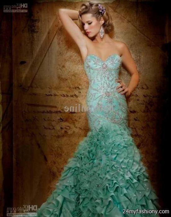 mint green mermaid wedding dress 2016-2017 » B2B Fashion
