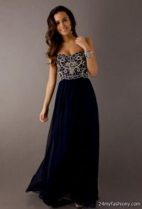 navy blue and white prom dresses 2016-2017 | B2B Fashion