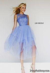 periwinkle prom dress sherri hill 2016-2017 | B2B Fashion