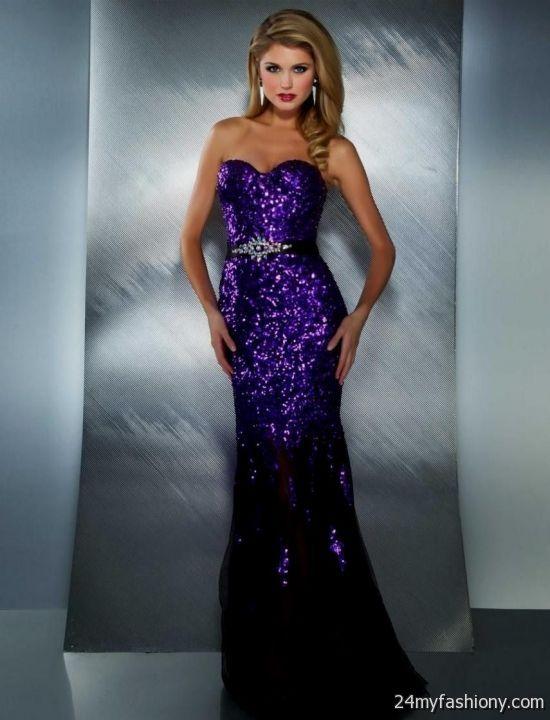 purple sequin prom dress 2016-2017 » B2B Fashion