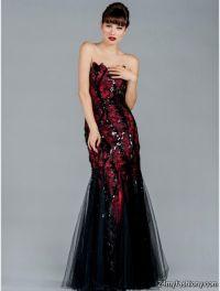 red and black mermaid prom dress 2016-2017 | B2B Fashion