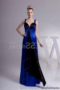 Black And Blue Bridesmaid Dresses - Flower Girl Dresses