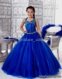 Royal Blue Gowns For Kids