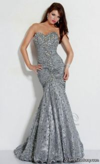 silver beaded prom dress 2016-2017 | B2B Fashion