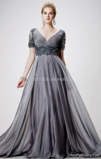 silver evening gowns plus size 2016