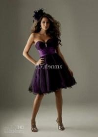 Black And Purple Bridesmaid Dresses - Discount Wedding Dresses