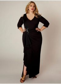 black bridesmaid dresses with sleeves plus size 2016