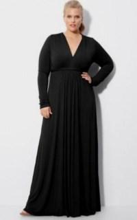 black long sleeve dress plus size 2016
