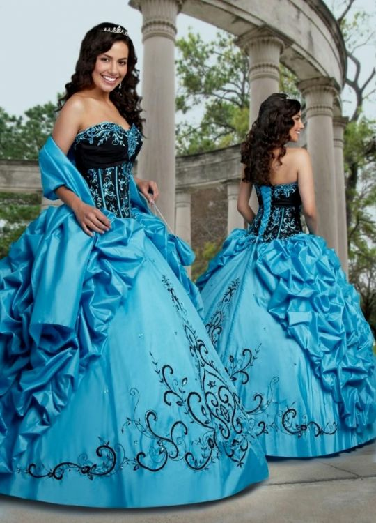 Blue Charro Quinceanera Dresses Looks B2B Fashion