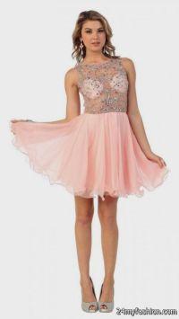 blush pink short prom dress 2016-2017 | B2B Fashion