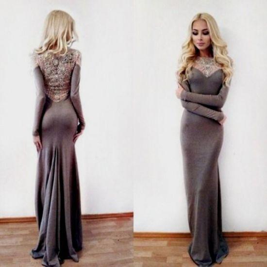 casual long sleeve fitted maxi dress 2016-2017 » B2B Fashion