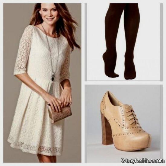 cream lace dress outfit 2016-2017 » B2B Fashion