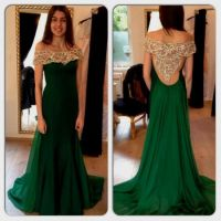 dark green prom dress sleeves 2016-2017 | B2B Fashion