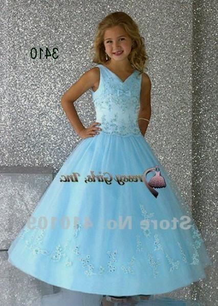 Light Blue Flower Girl Dresses 20162017  B2b Fashion