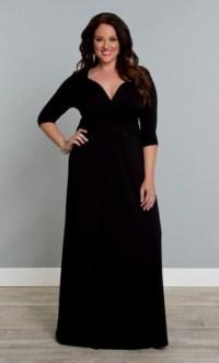 long sleeve black maxi dress plus size 2016-2017 | B2B Fashion