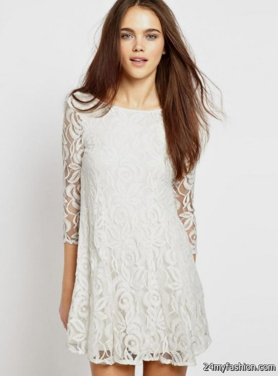 long sleeve white lace dress forever 21 2016-2017 » B2B Fashion