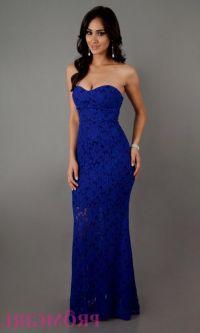 navy blue strapless lace prom dress 2016-2017 | B2B Fashion