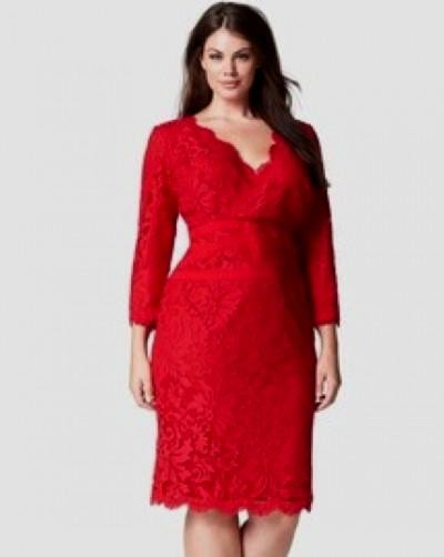 plus size red lace cocktail dress 20162017  B2B Fashion