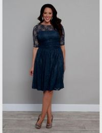 plus size teal lace dress 2016-2017 | B2B Fashion