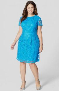 plus size teal lace dress 2016