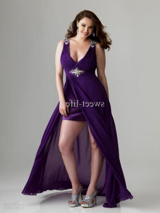 purple bridesmaid dresses plus size 2016