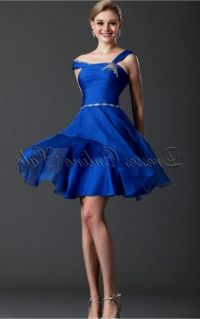 Royal Blue Knee Length Bridesmaids Dress_Bridesmaid ...
