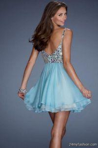 short light blue prom dresses with straps 2016-2017   B2B ...