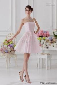 Short Light Pink Bridesmaid Dresses Uk - Discount Wedding ...