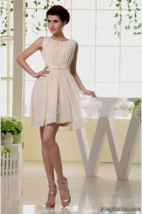 short light pink bridesmaid dresses chiffon 2016-2017 ...