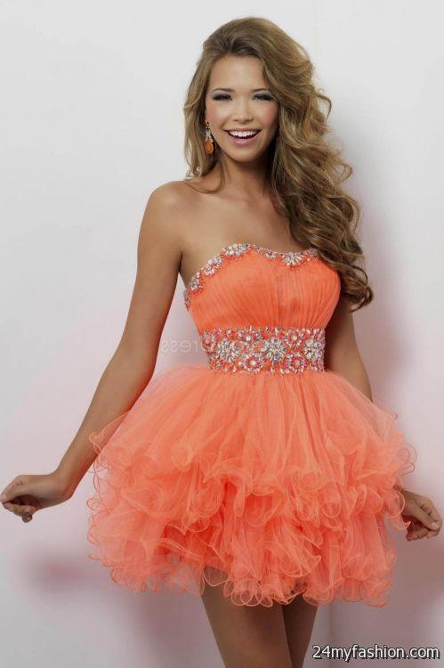 Neon Orange Prom Dresses