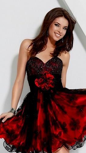 short red and black homecoming dresses 2016-2017 » B2B Fashion