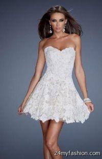 short white lace prom dress 2016-2017 | B2B Fashion