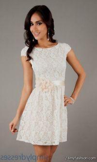 short white lace prom dresses 2014 2016-2017 | B2B Fashion