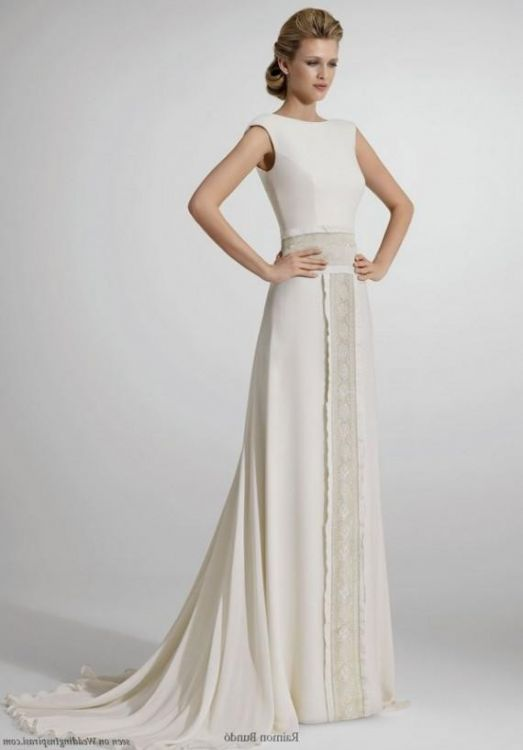 simple white dresses for courthouse wedding looks  B2B