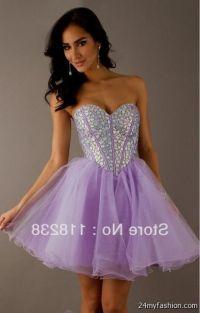 Sweet Sixteen Dresses Purple Short  fashion dresses