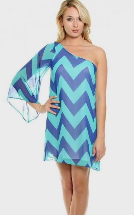 turquoise chevron dress 2016-2017 » B2B Fashion