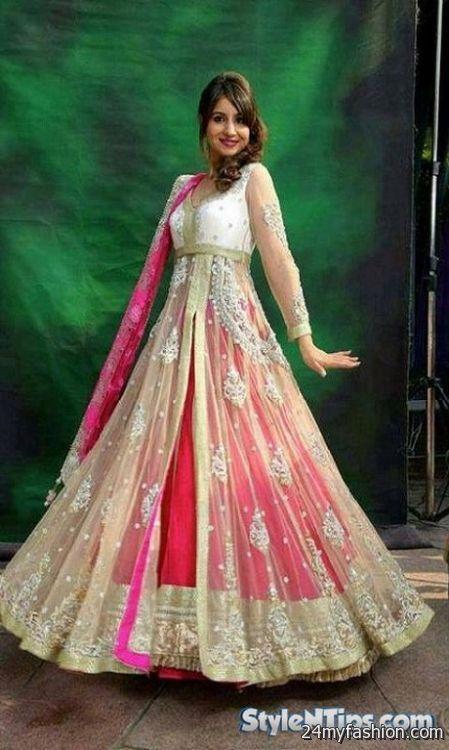 Pakistani bridal dresses pictures 2017